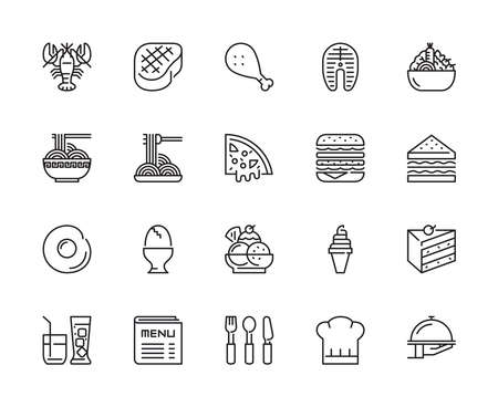 Restaurant, Food icons, Vector, Illustration and Modern Graphic
