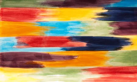 interconnected: multicolored horizontal art interconnected paint brush strokes Stock Photo