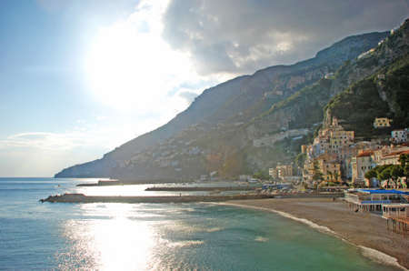 Coastview of Amalfi in front of a beautifull blue sea Stock Photo - 13746212
