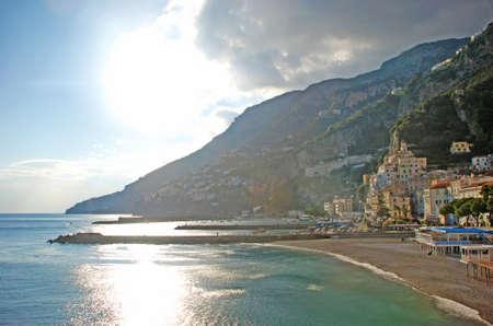 Coastview of Amalfi in front of a beautifull blue sea Stock Photo - 13746212