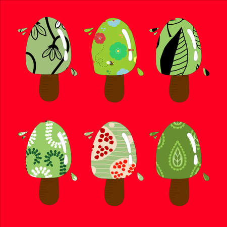Colorful ice creams Vector