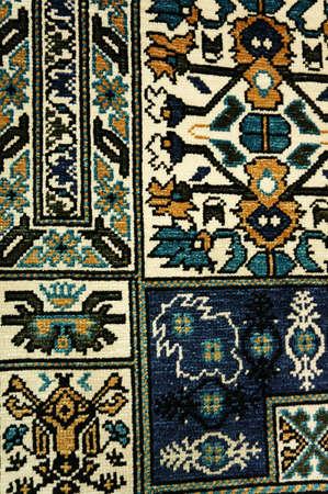 kairouan: Close up view of a tunisian carpet in Kairouan