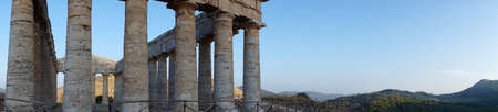 Panoramic view of the greek temple of Segesta in Sicily photo
