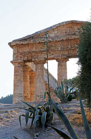 The greek temple of Segesta in Sicily  photo