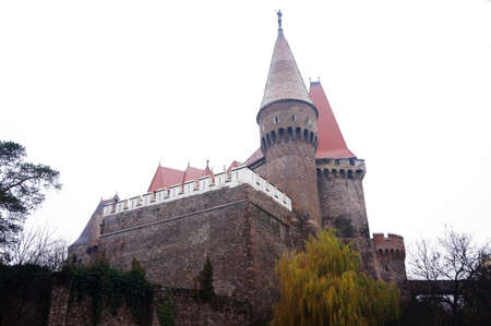 External view of the Corvins' Castle of Hunedoara in Romania