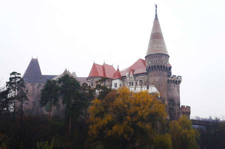 External view of the Corvin Castle of Hunedoara in Romania