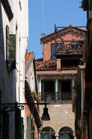 foreshortening: Foreshortening of the streets in Venice