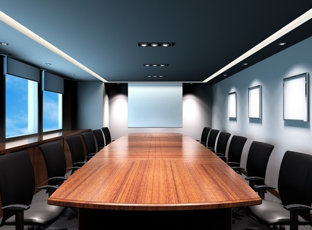 meeting table: Business meeting room in office with modern decoration