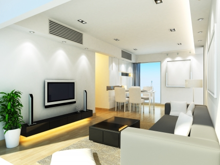 Modern living room design photo