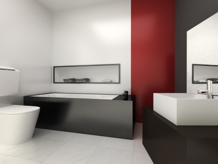 A modern bathroom for residences or hotels