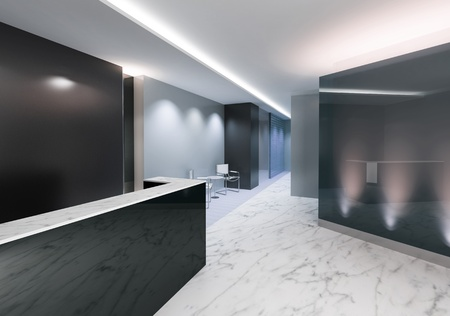 Entrance area of an office with modern decoration