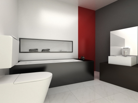 Une salle de bains moderne pour les résidences ou hôtels Banque d'images