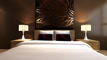 Chambre de luxe dans un style minimaliste