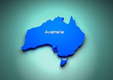 map of australia: Australia of the World Map Stock Photo
