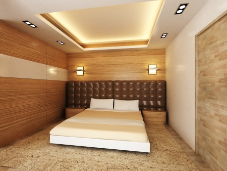 Modern bedroom Stock Photo - 15750895