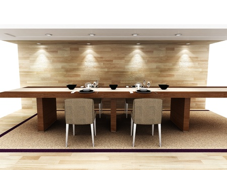 A modern dinning area Stock Photo - 15750924