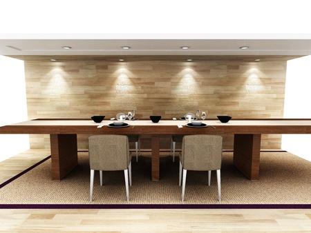 Une salle à manger moderne