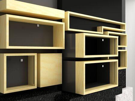 Display shelves wall Stock Photo - 15750739