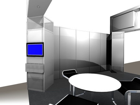 Inside of an exhibition Booth photo