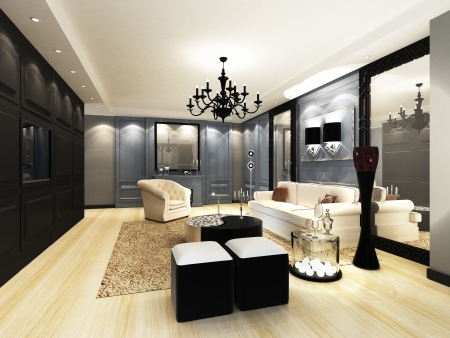 apartment interior: Elegant Living room