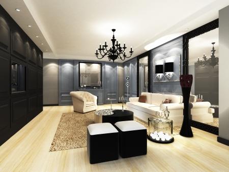 sala de estar: Sala de estar elegante Foto de archivo