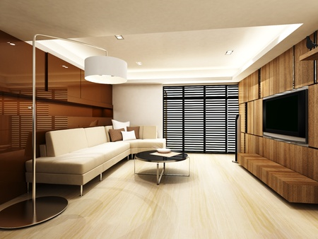 Modern living room Stock Photo - 15750863