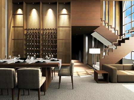 Design moderne salon Banque d'images