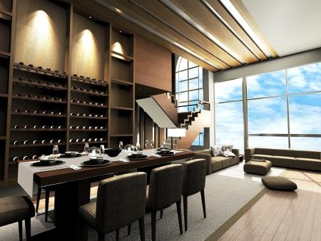 Moderne woonkamer ontwerp