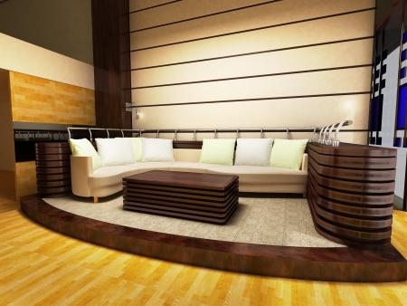 Coin canapé d'un salon moderne