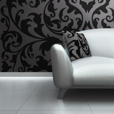 A contemporary luxury sofa in an interior  Stock Photo