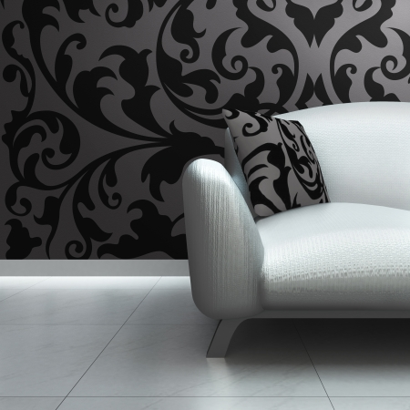 Un canapé de luxe contemporain dans un intérieur Banque d'images