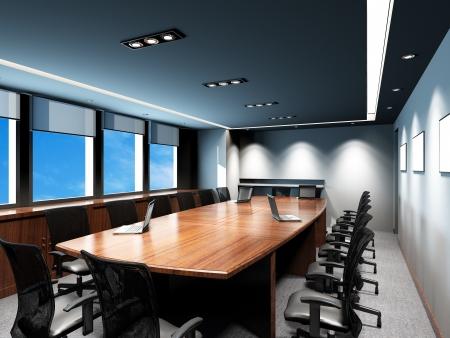 Salle de réunion d'affaires dans le bureau avec une décoration moderne