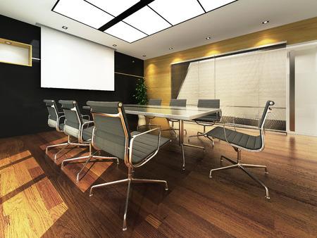 muebles de madera: Oficina 3D sala de reuniones