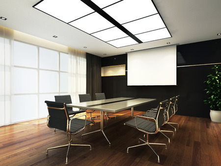 3D Office meeting room