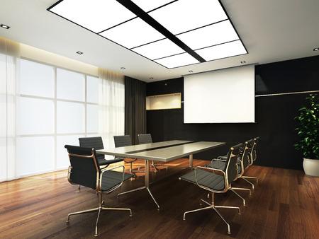 Oficina 3D sala de reuniones Foto de archivo - 43665306