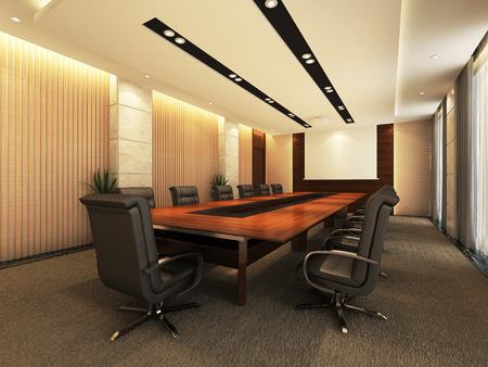 Oficina 3D sala de reuniones Foto de archivo - 43731173