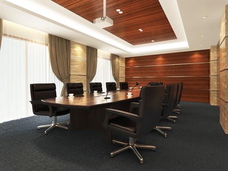 3 D オフィス会議室 写真素材