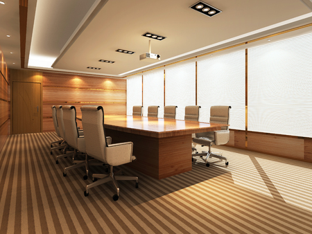 concision: 3D Office meeting room