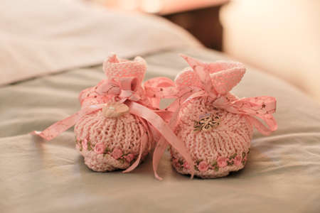 booty: Pink Baby Booties