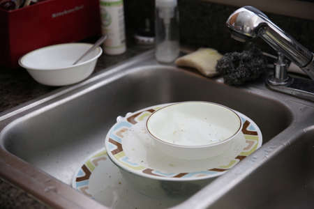 unwashed: Dirty dishes