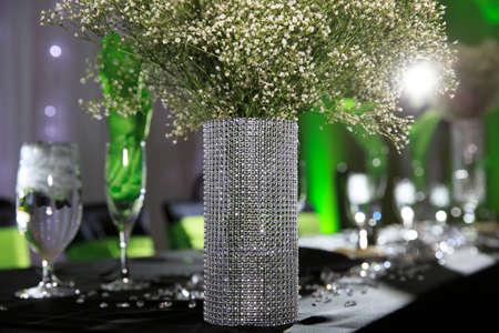 decor: Green wedding decor Stock Photo