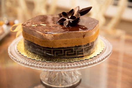 Coffee mousse cake photo