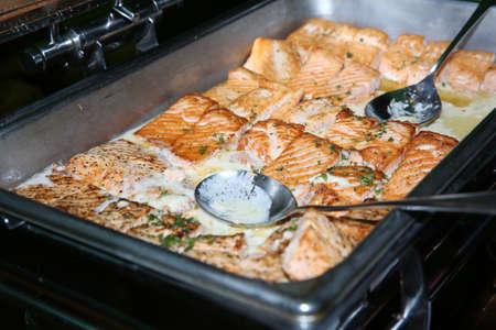 grilled salmon: Delicious salmon fish Stock Photo