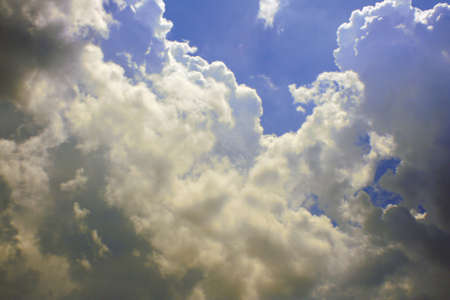 goodliness: Clouds on a sunny day Stock Photo