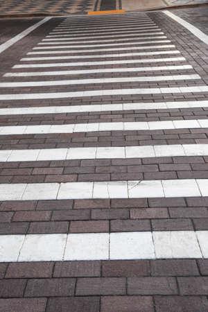 paso de peatones: Camino del paso de peatones Foto de archivo