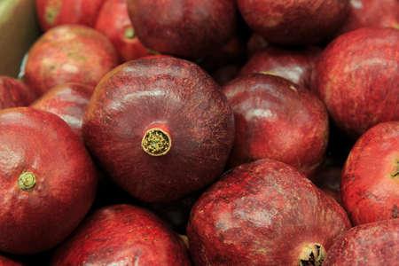 super market: Red pomegranates in the market
