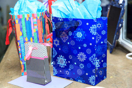 bar mitzvah: Star of david on a birthday bag