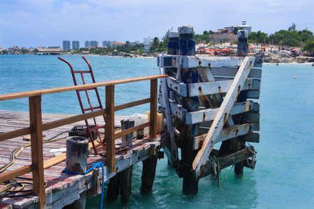 corded: Boat dock Stock Photo