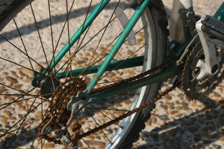 Oud fietswiel