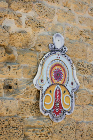 cabala: Hamsa Hand in Jerusalem wall